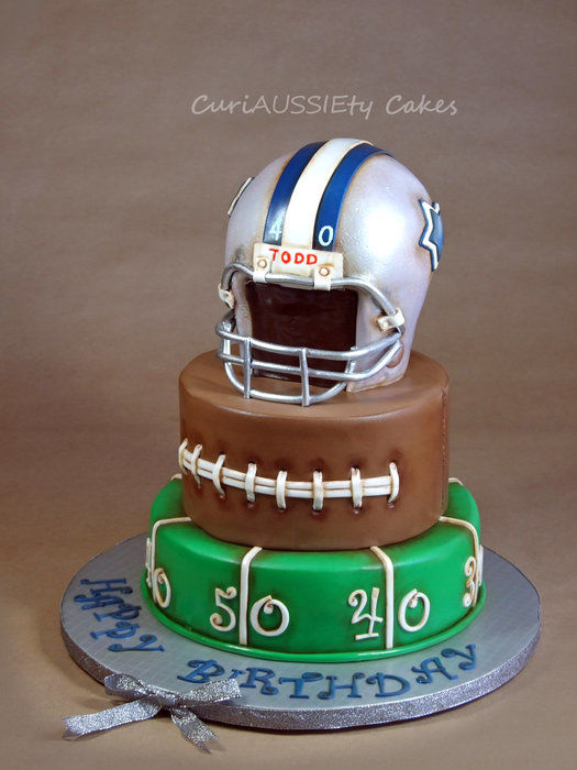 Vintage football cake