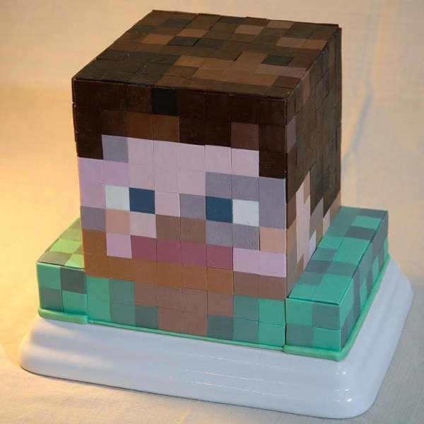 Minecraft character cake