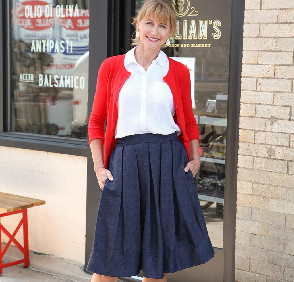Ladylike Pleated Skirt Sewing Pattern Kit