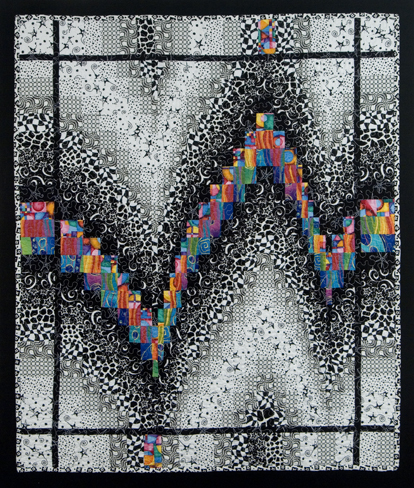 Black and White Bargello Quilt