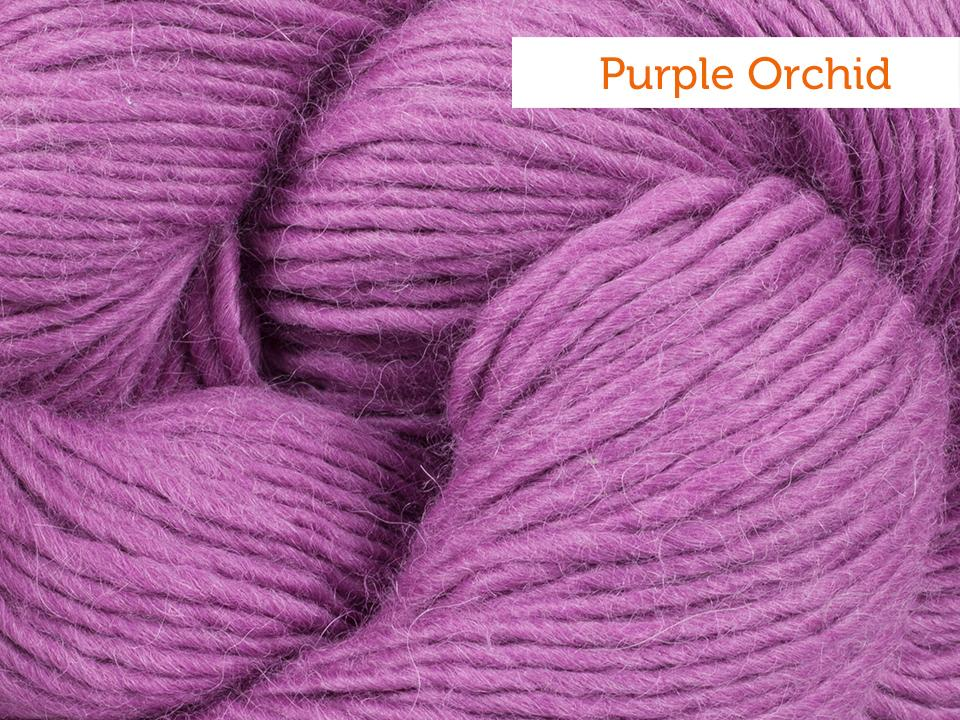Cascade Highland yarn in Purple Orchid