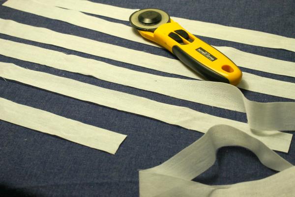 duvet interfacing strips for button placket