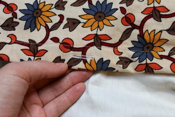 Duvet buttonhole