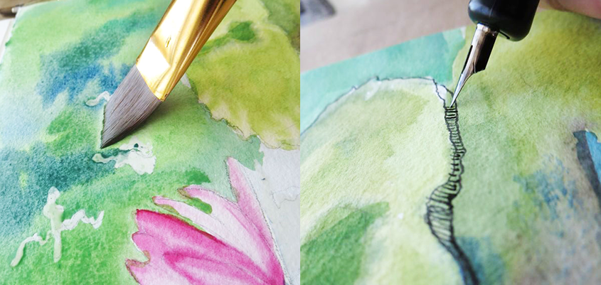 Painting + Drawing Beautiful Flowers!