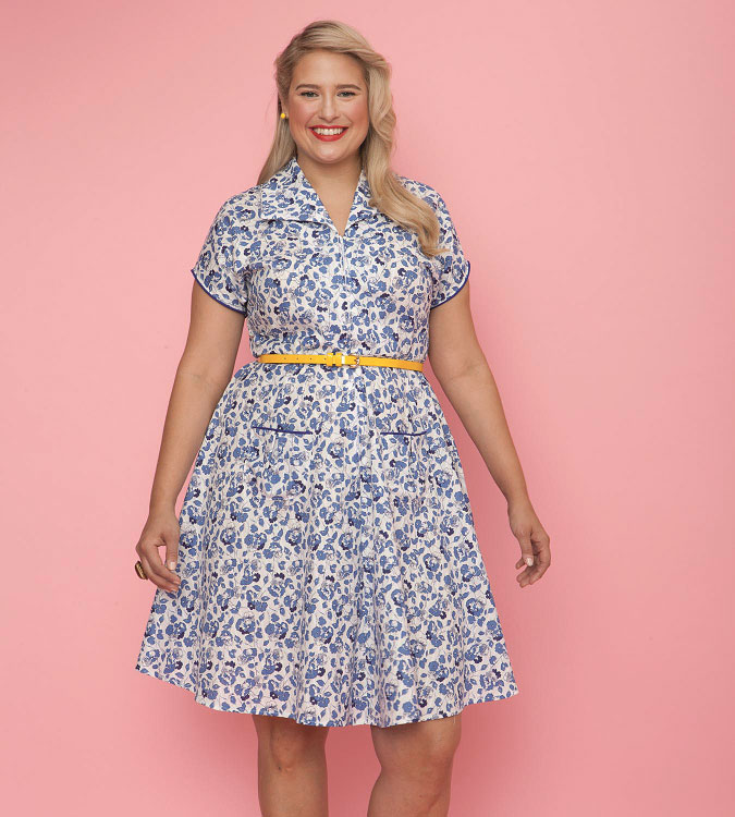 Gertie wing collar dress pattern