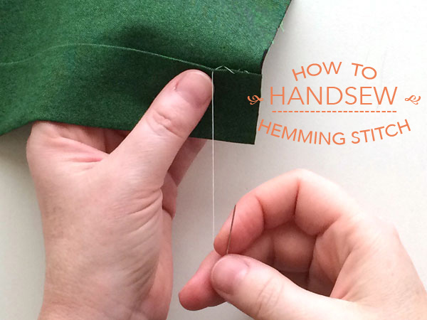 how to hand sew a hemming stitch