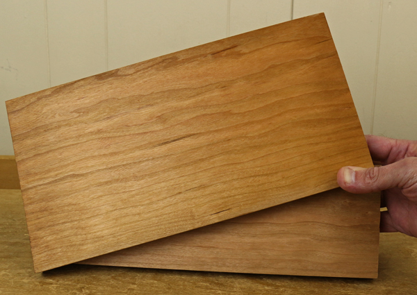 Samples of Two Boards Coated With Gel Varnish