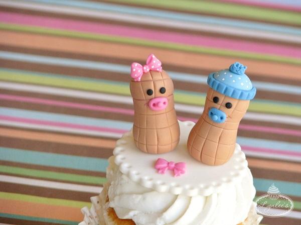 Lil' Peanut Fondant Cupcake Topper
