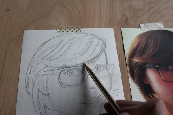 Drawing bangs