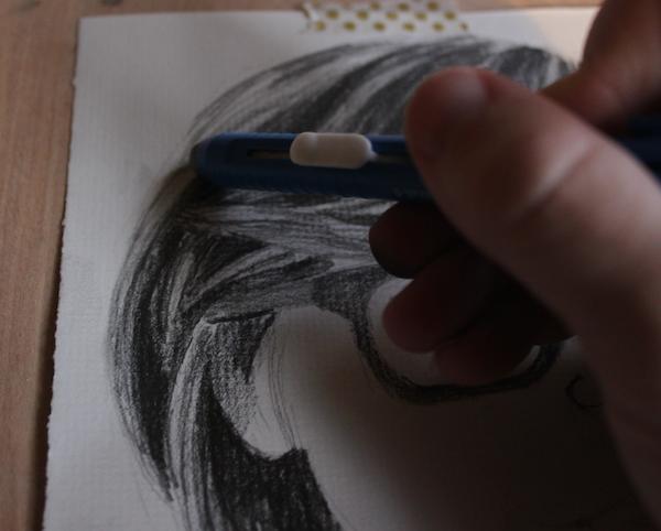 Erasing hair for sheen