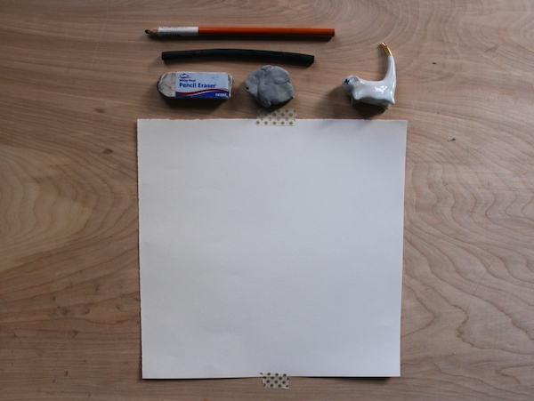 Tools in a charcoal drawing