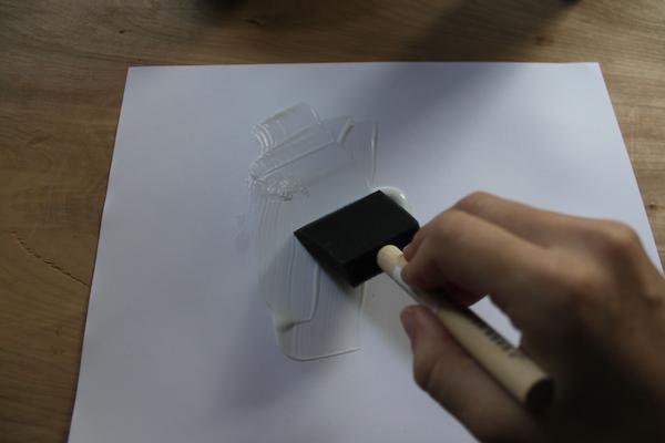 matte medium on paper