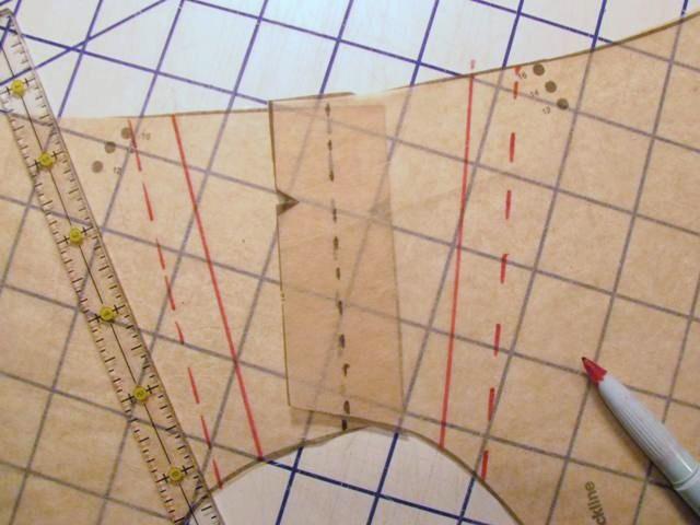 Drafting a shoulder epaulet pattern