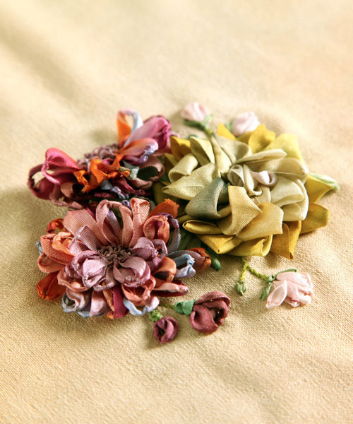 Embroidering With Ribbon class materials