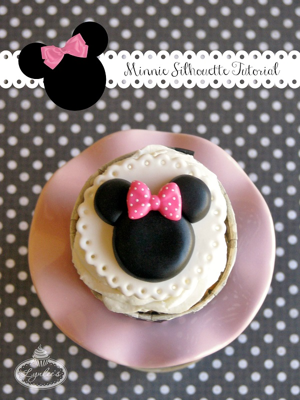 Minnie silhouette fondant tutorial
