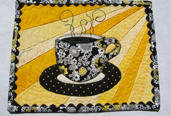 Sunshine Brew Mug Rug