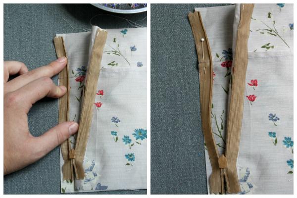 Seam Matching Invisible Zipper