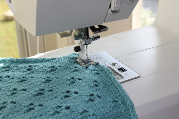 Sewing hand knits with your sewing machine