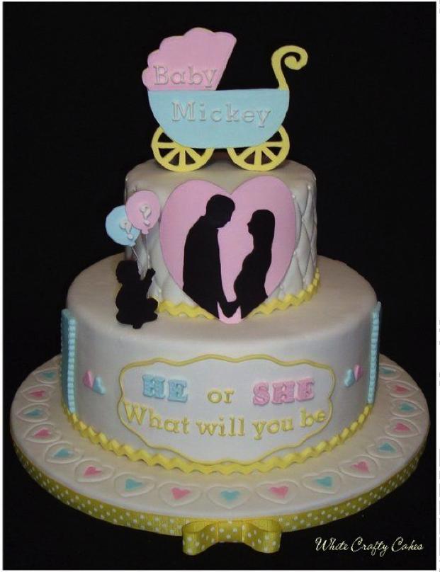 Fun gender reveal cake design