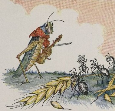The Ant and the Grasshopper_-_Project Gutenberg etext 19994 - Illustrated in 1919 by Milo Winter