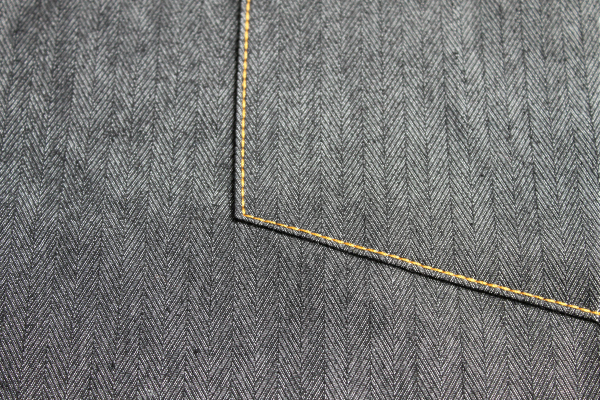 Straight Stitches on a Jeans Pocket Topstitch