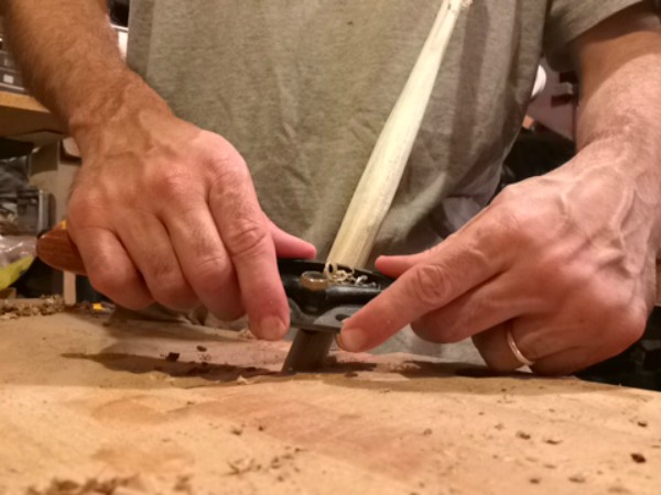 Using a spokeshave