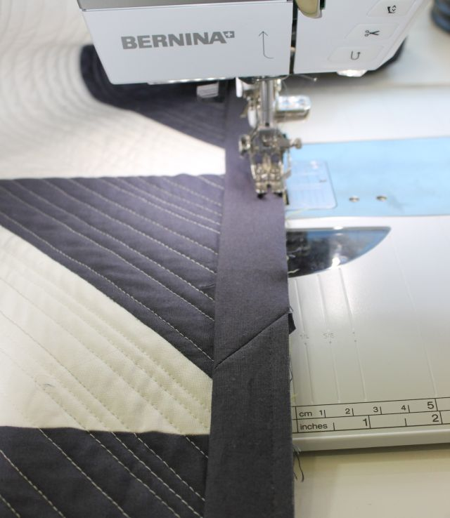 Finish stitching the binding