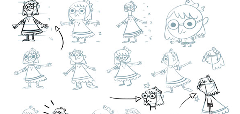 Developing characters for illustrations