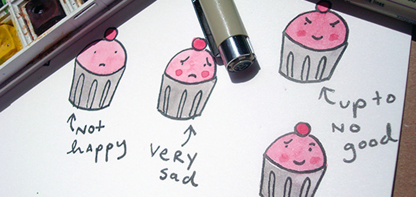 Drawing emoting cupcakes — illustration tips