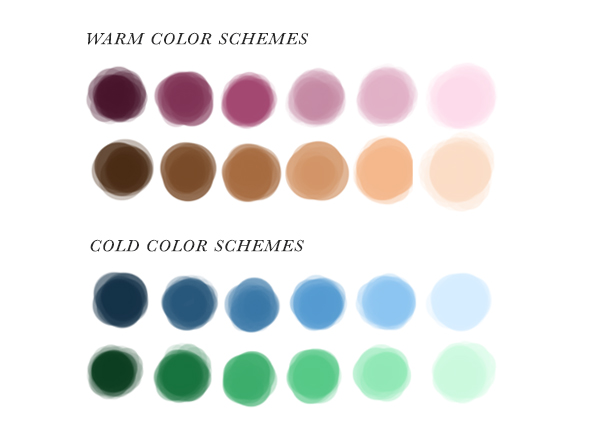 cold and warm color schemes