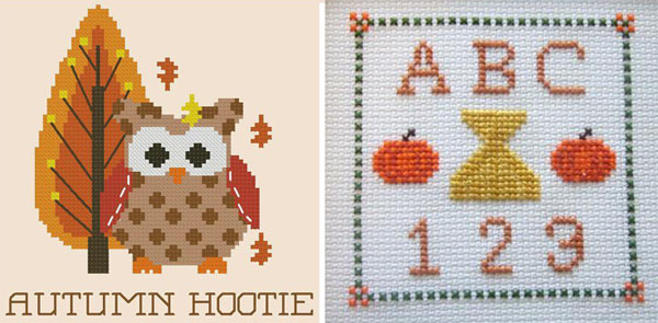 Cross stitch owl and ABC 123
