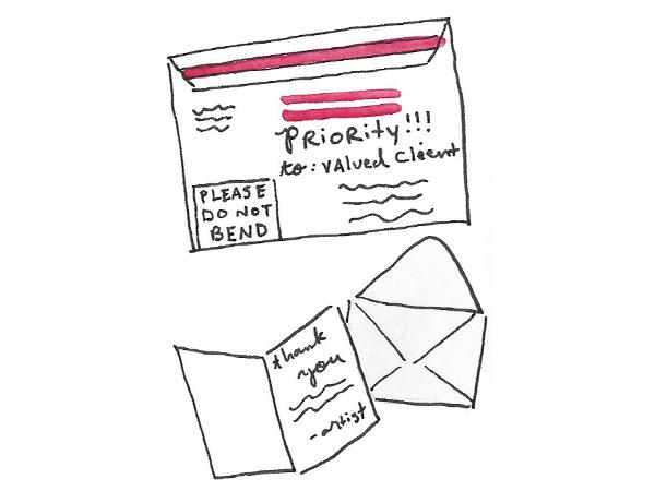 Mailing custom art