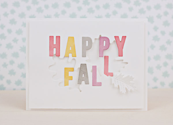 "Handmade ""Happy Fall"" Card with Metal Dies"