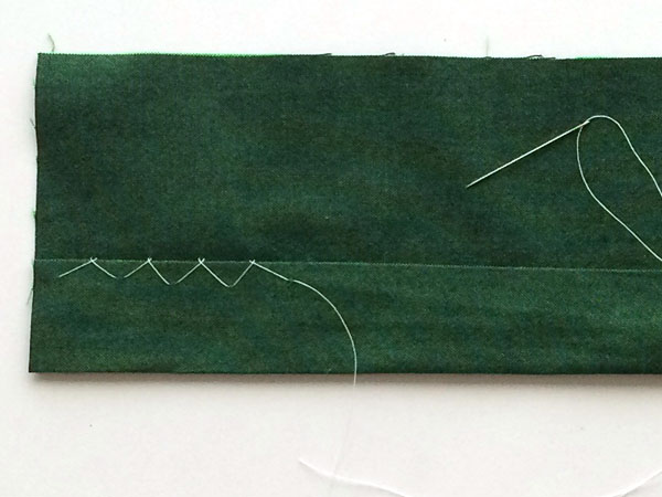 flat catchstitch final stitch