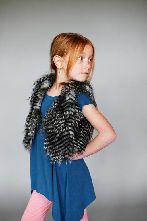 Fur vest for girl