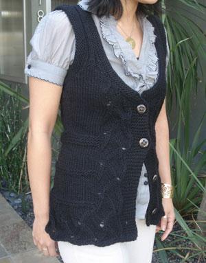 Talia Shaped Vest — Free Knitting Pattern