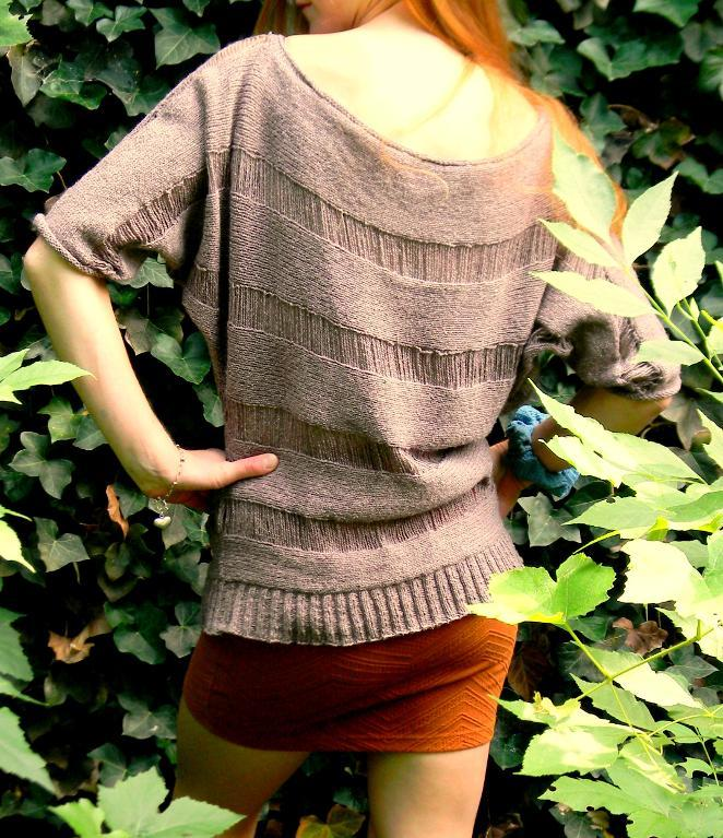 Dropped Stitch Pullover knitting pattern