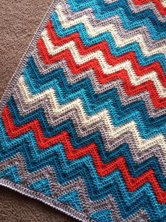 Chevron 2.0 blanket crochet pattern