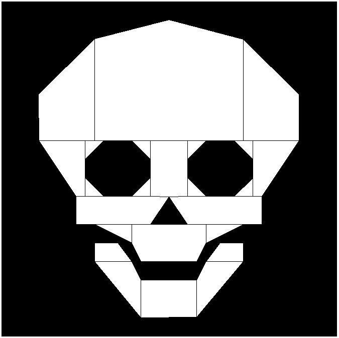 Skull Paper Pieced Pattern
