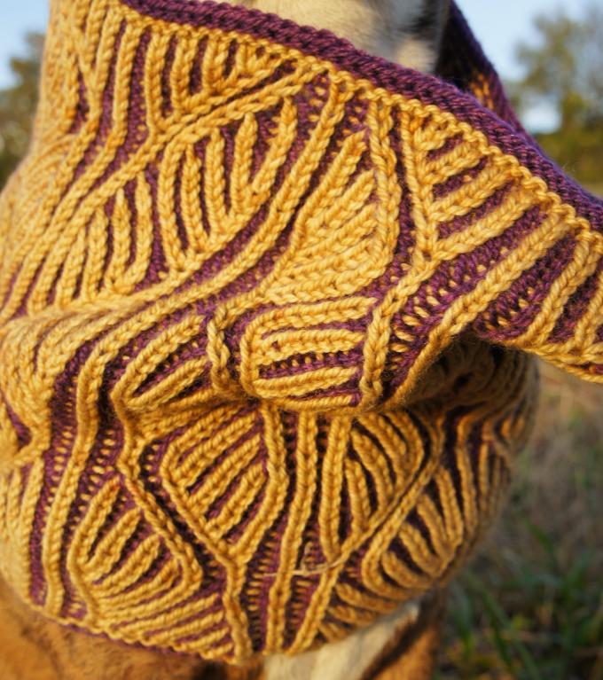 Rhoda Brioche Cowl knitting pattern
