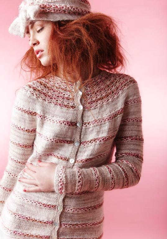 Chambord Truffle cardigan knitting pattern
