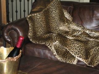 Faux fur blanket or throw