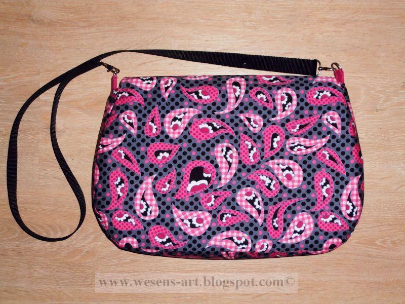 Pink bag pattern on Bluprint