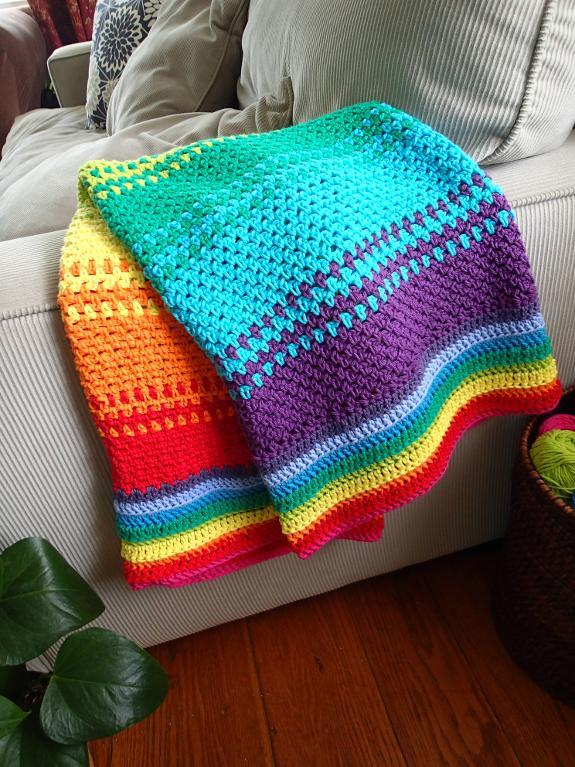 Rainbow Generation Blanket crochet pattern