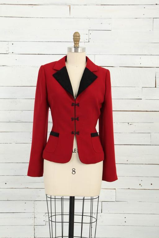 Perfectly tailored red jacket