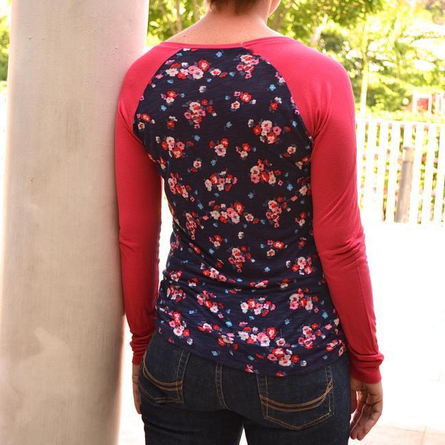 Lane Raglan Top sewing pattern