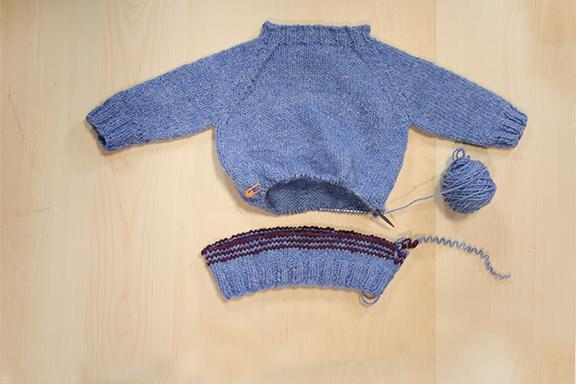 Changing length of a sweater