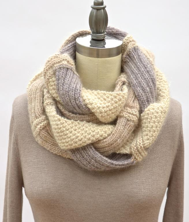 Challah Infinity Scarf knitting pattern