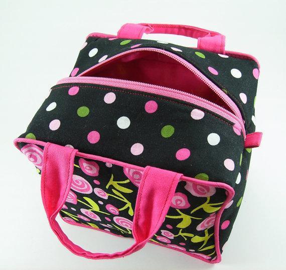 Pretty polka dot line cosmetic bag