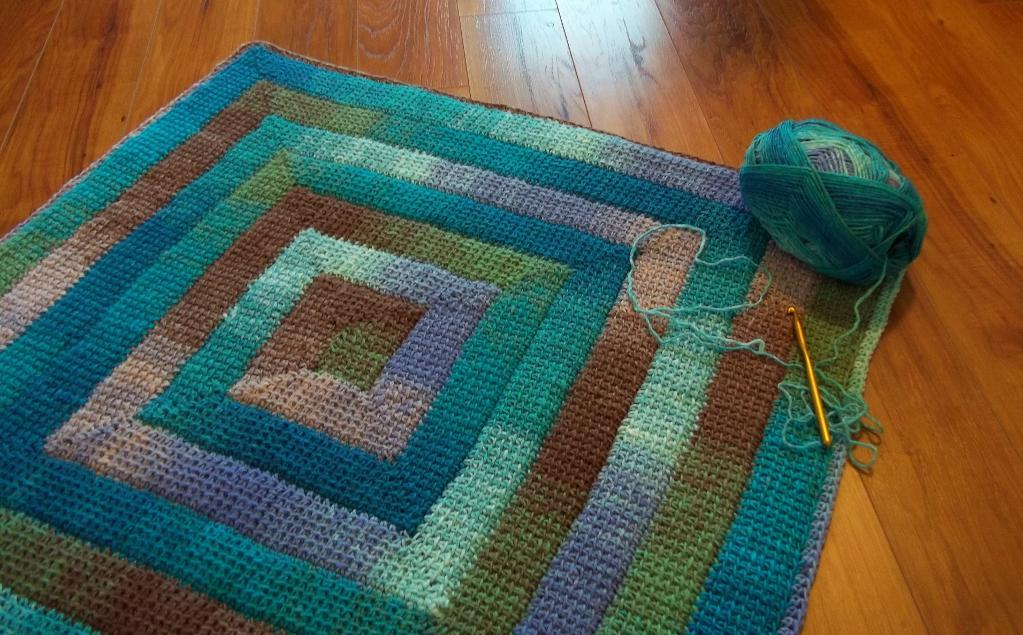 Simply Spiraled crochet blanket pattern